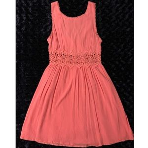 Forever21 Orange Laced Mini Dress